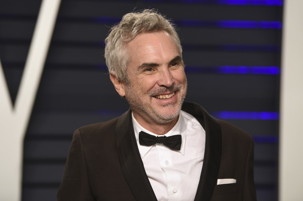 Alfonso Cuaron arrives at the Vanity Fair Oscar Party on Sunday, Feb. 24, 2019, in Beverly Hills, Calif. (Photo by Evan Agostini/Invision/AP)