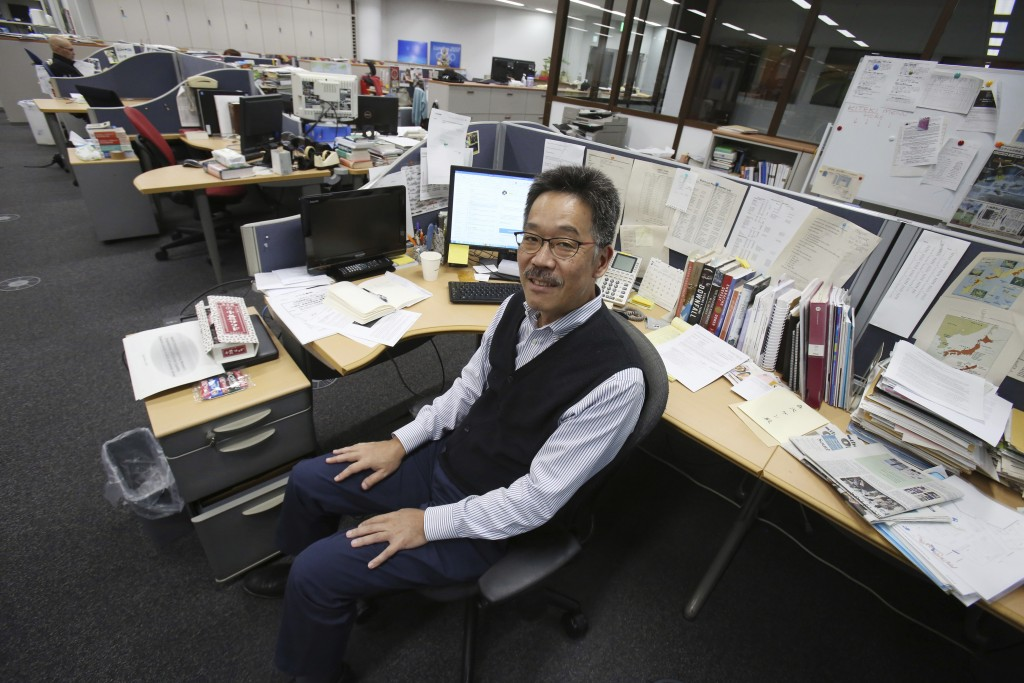 This Feb. 28, 2019, photo shows Ken Moritsugu, in Tokyo. The Associated Press has named Moritsugu, an accomplished reporter, editor and news leader wi...