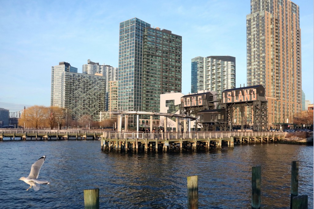 FILE - This Fed. 14, 2019 file photo, shows a view of an area of Long Island City, in the Queens borough of New York, along the East River, near the p