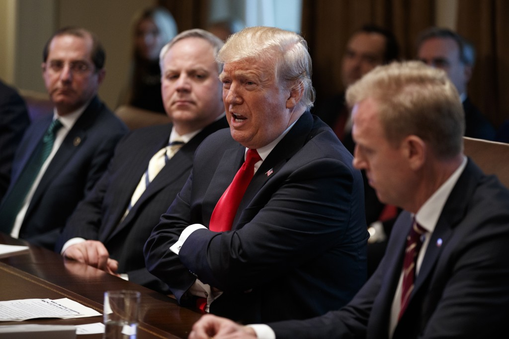 FILE - In this Jan. 2, 2019, file photo President Donald Trump speaks during a cabinet meeting at the White House, Wednesday, Jan. 2, 2019, in Washing
