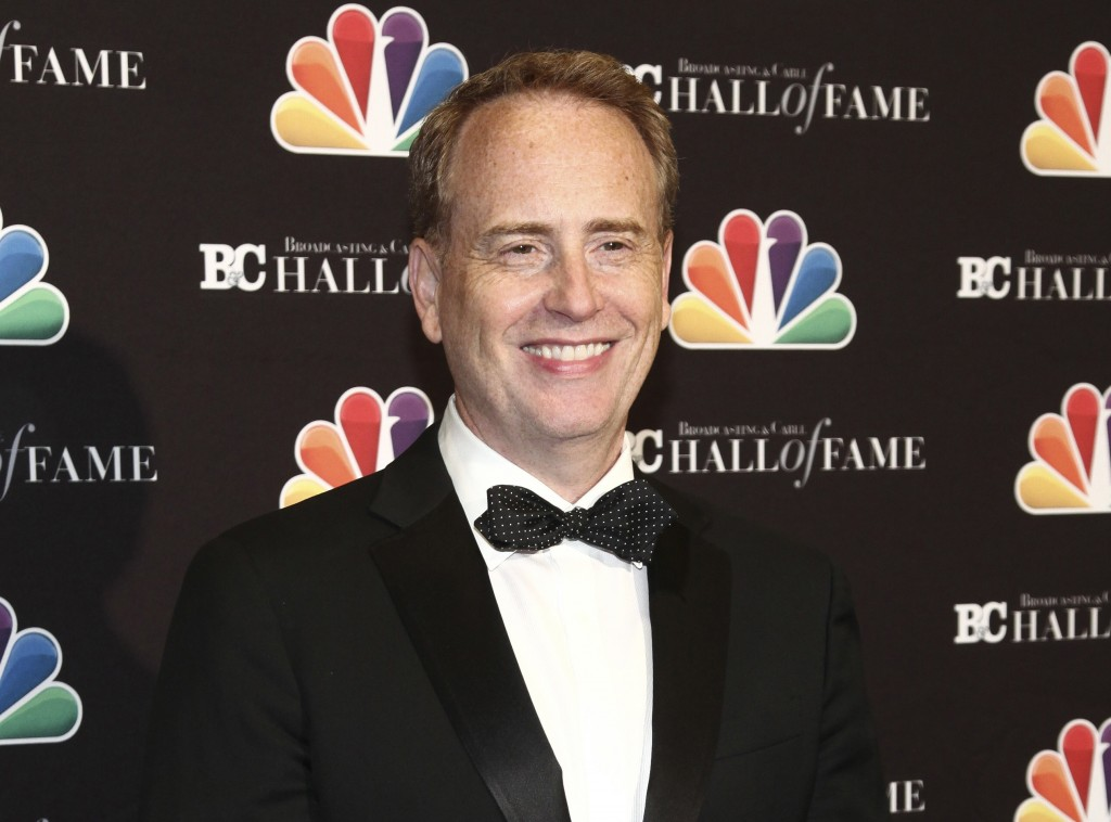 FILE - In this Oct. 16, 2017 file photo, Robert Greenblatt poses in the press room at the Broadcasting & Cable Hall of Fame Awards 27th Anniversary Ga