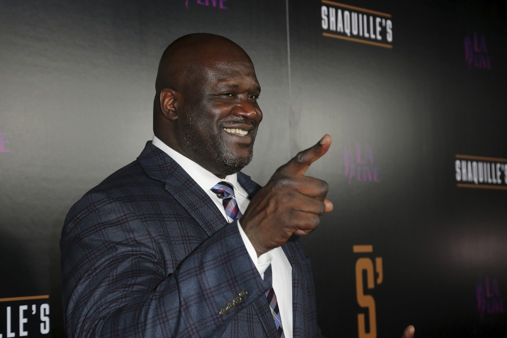 Shaquille O'Neal arrives at the Grand Opening of Shaquille's at LA Live on Saturday, March 9, 2019, in Los Angeles. (Photo by Willy Sanjuan/Invision/A