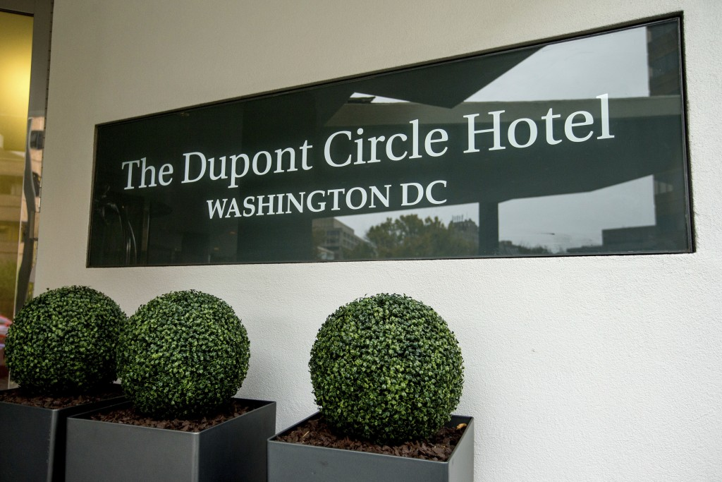 FILE - In this Nov. 7, 2015, file photo, the Dupont Circle Hotel in Washington where Mikhail Lesin, a former aide to Russian President Vladimir Putin,...