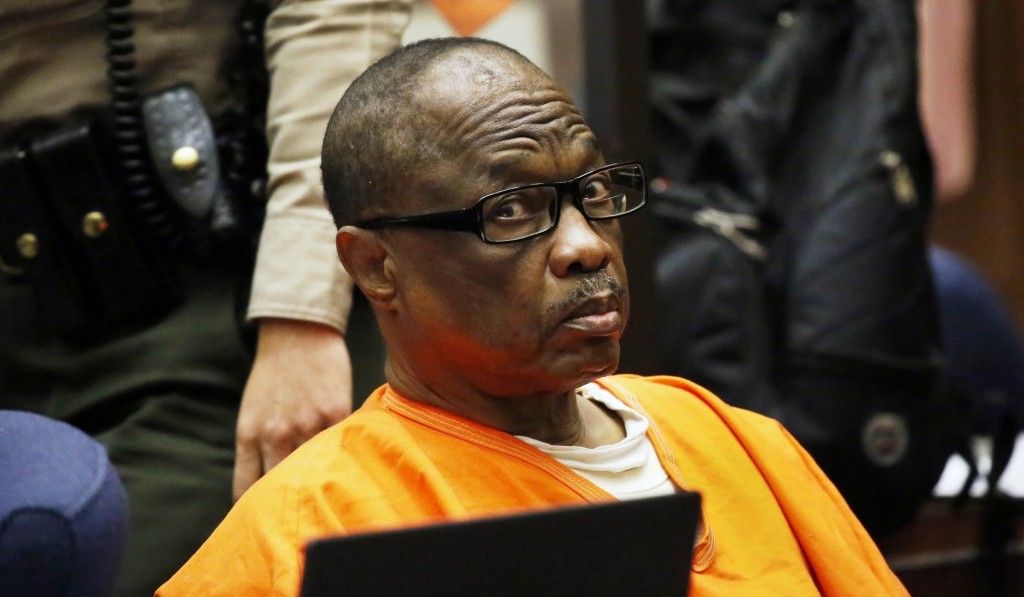 "FILE - In this Aug. 10, 2016, file photo, Lonnie Franklin Jr., a convicted serial killer known as the ""Grim Sleeper,"" is sentenced in Los Angeles Supe"