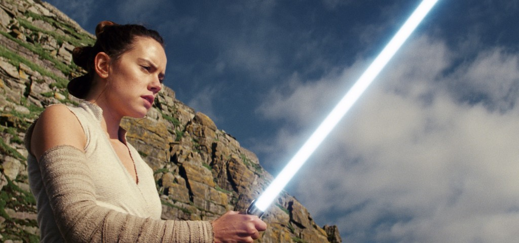 """This image released by Lucasfilm shows Daisy Ridley as Rey in """"Star Wars: The Last Jedi."""" Marvel's """"Captain Marvel,"""" the superhero factory's first mov..."""