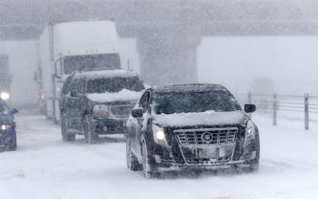 'Bomb cyclone' winter storm moves east after punishing Colorado in US