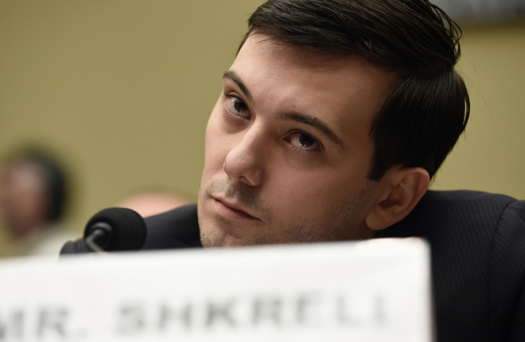 FILE - In this Thursday, Feb. 4, 2016 file photo, former Turing Pharmaceuticals CEO Martin Shkreli attends the House Committee on Oversight and Reform