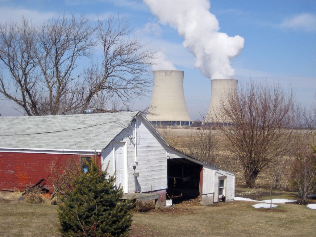 FILE - In this March 16, 2011, file photo, steam escapes from Exelon Corp.'s nuclear plant in Byron, Ill. The nuclear power industry is pushing the Nu
