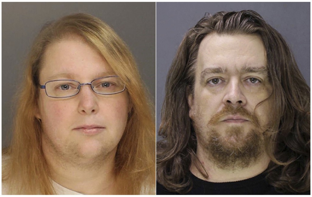 FILE - This combination of file photos provided on Sunday, Jan. 8, 2017, by the Bucks County District Attorney shows Sara Packer, left, and Jacob Sull...