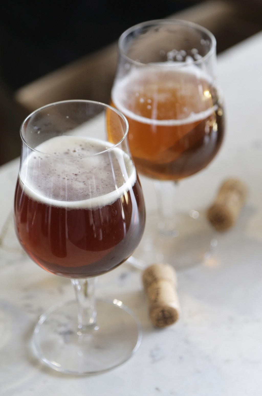 This March 4, 2019, photo shows Deep Ascent, an ale that was brewed using some yeast from beer bottles recovered from the shipwreck of the SS Oregon a