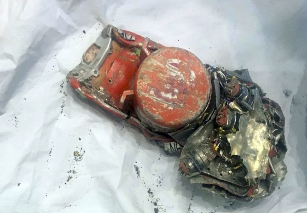 This photo provided by by the French air accident investigation authority BEA on Thursday, March 14, 2019, shows one of the black box flight recorder