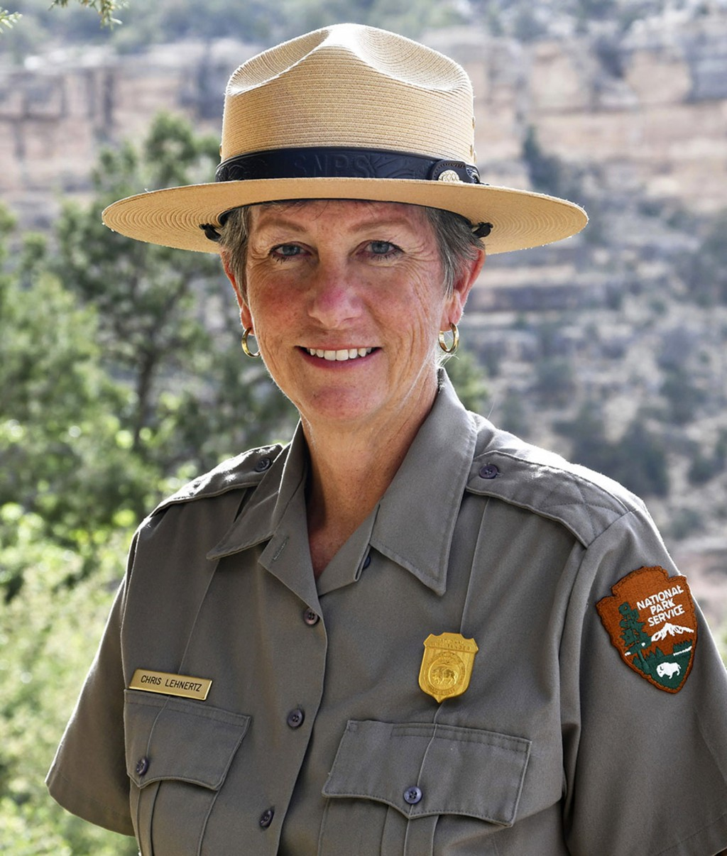FILE - This May 19, 2018 file photo released by the National Park Service shows Grand Canyon National Park Superintendent, Christine Lehnertz at Grand