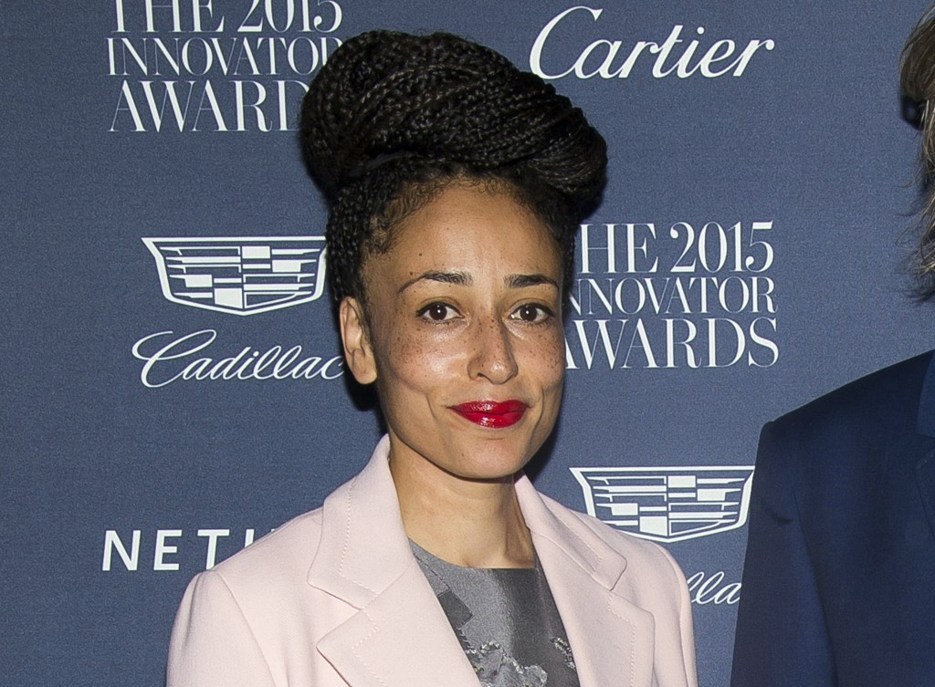 FILE - This Nov. 4, 2015 file photo shows Zadie Smith at the WSJ Magazine Innovator Awards in New York. Smith won the  the National Book Critics Circl
