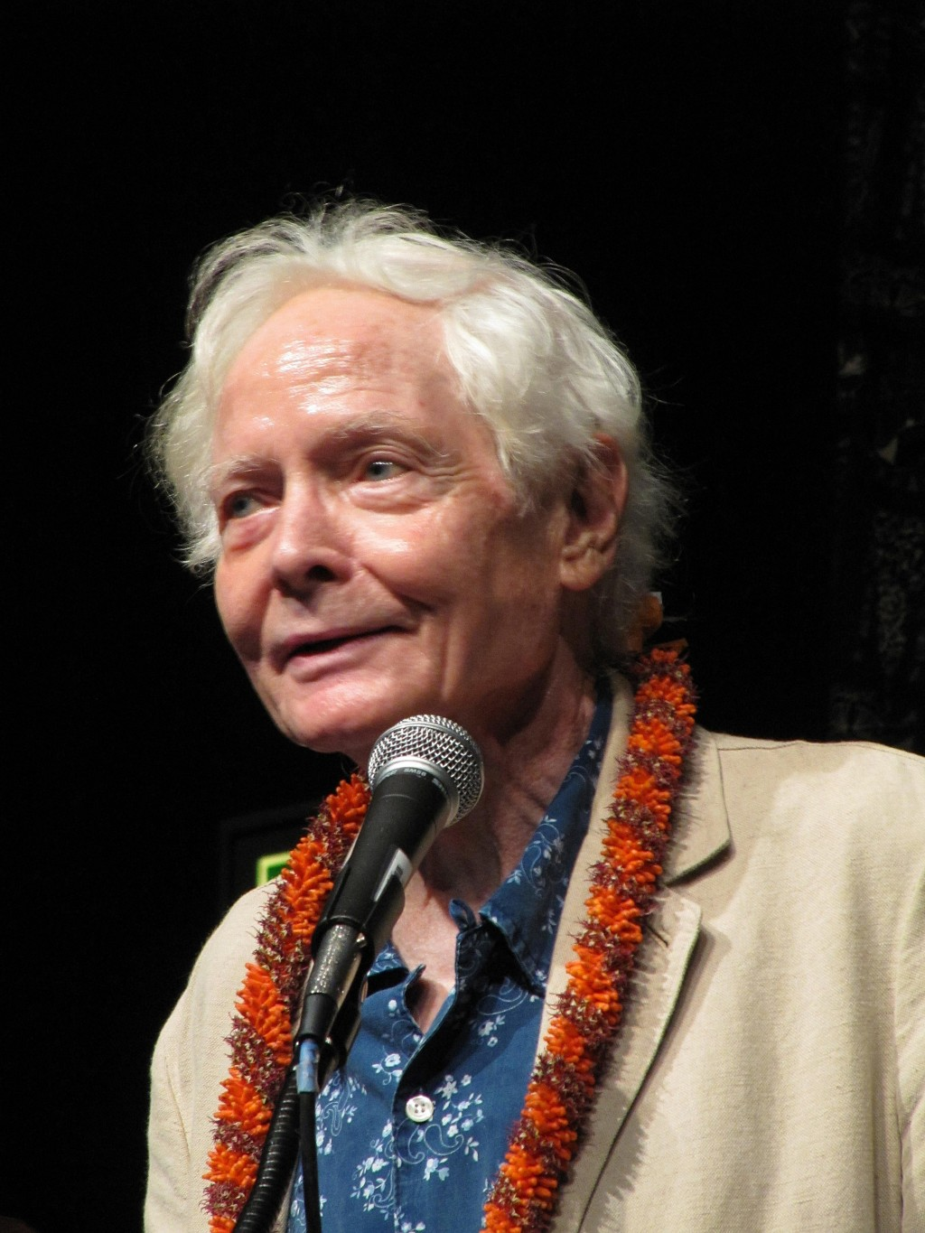 FILE - In this Aug. 2, 2011 file photo, poet W.S. Merwin speaks to the Hawaii Conservation Conference in Honolulu. Merwin, a prolific and versatile ma