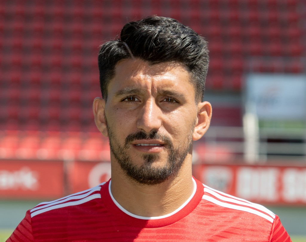File--- Picture taken July 19, 2018 shows Ingolstadt's Almog Cohen during a photo call in Ingolstadt, Germany. Second-division German side Ingolstadt