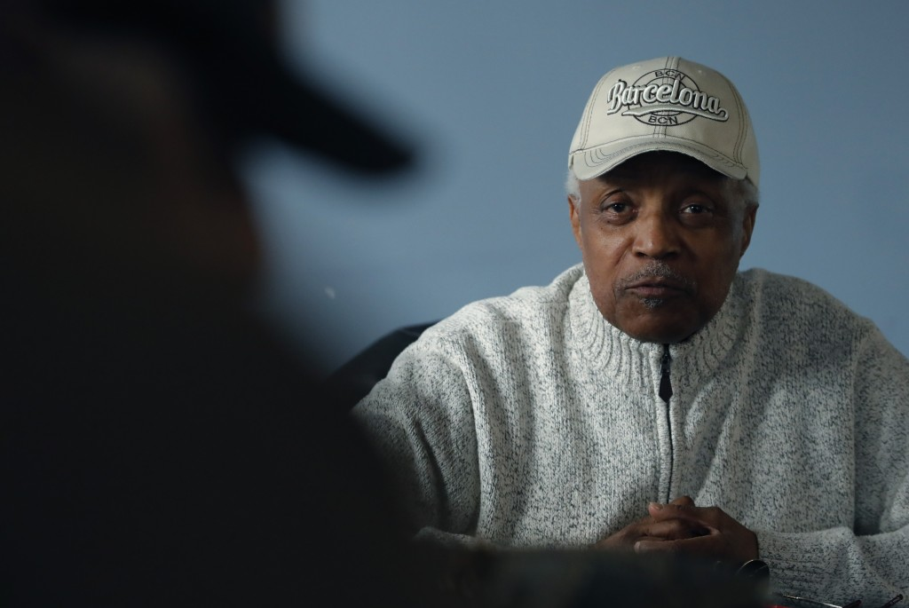 In a photo from Wednesday, March, 13, 2019, Paul Riser Sr., a Motown Records alumnus, is seen in Detroit. The dilemma of separating the sides of R. Ke