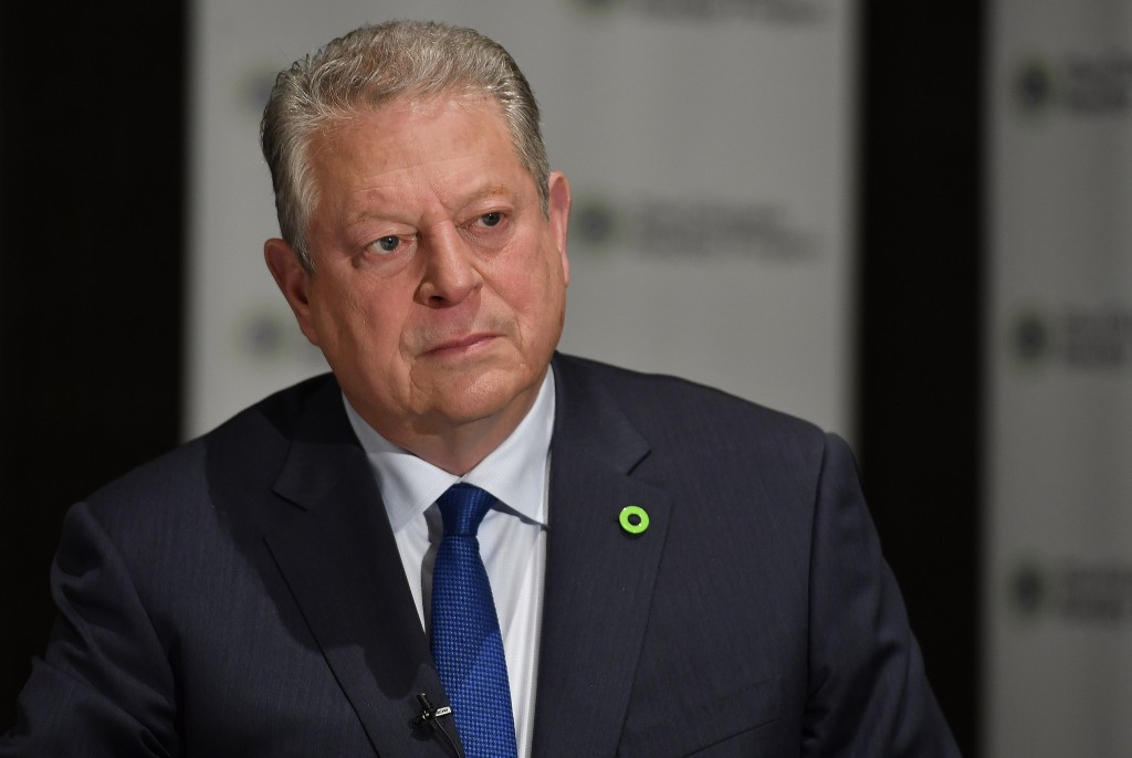 Former U.S. Vice President Al Gore, founder of the Climate Reality Project, speaks to the Associated Press in an interview, Friday, March 15, 2019, in