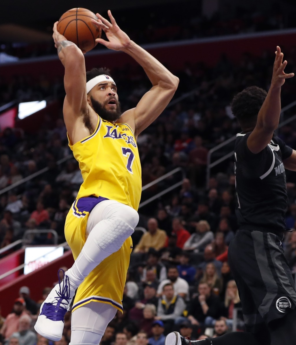 big sale da55b 0af5e Los Angeles Lakers center JaVale McGee attempts a layup during the first  half of an NBA