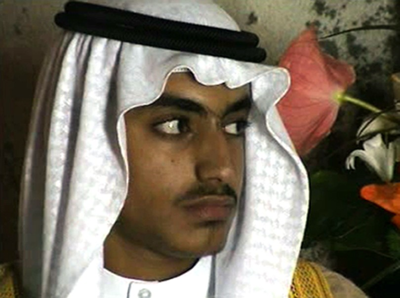 FILE - In this image from video released by the CIA on Nov. 1, 2017, Hamza bin Laden is shown at his wedding. Years after the death of his father at t