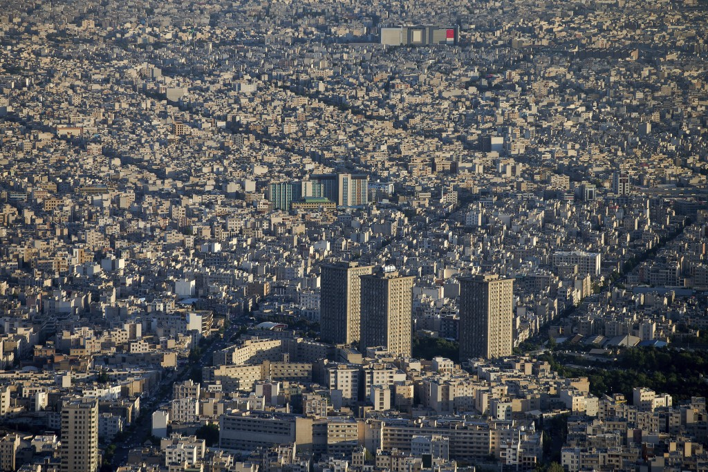 This Friday, May 26, 2017 photo, shows a general view of Tehran, Iran. Years after the death of his father at the hands of a U.S. Navy SEAL raid in Pa