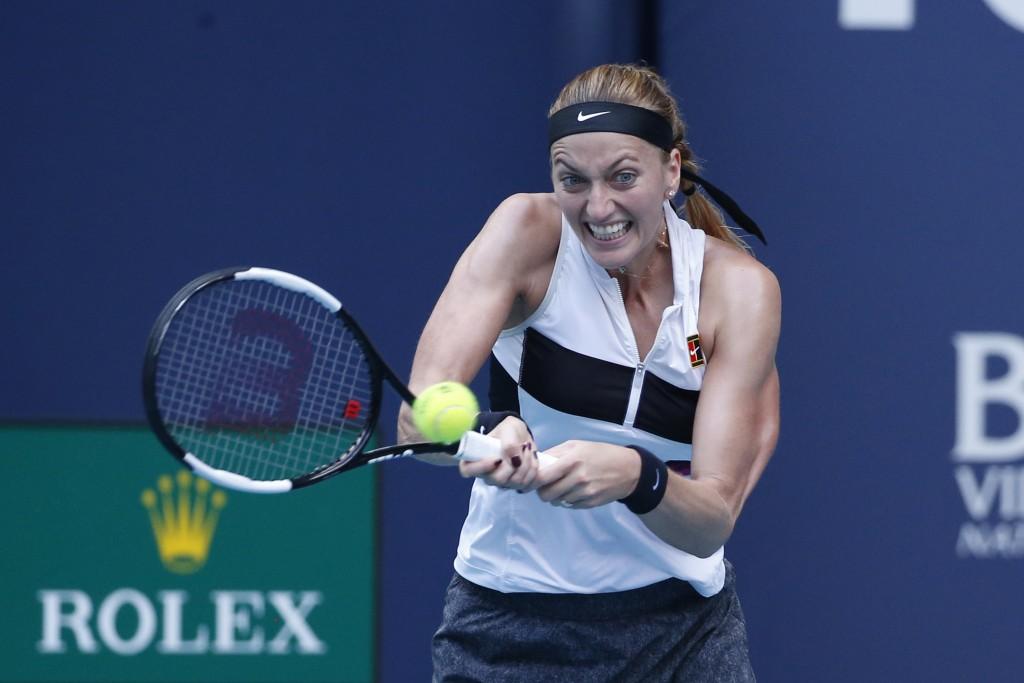 Kvitova advances to Miami Open quarterfinals