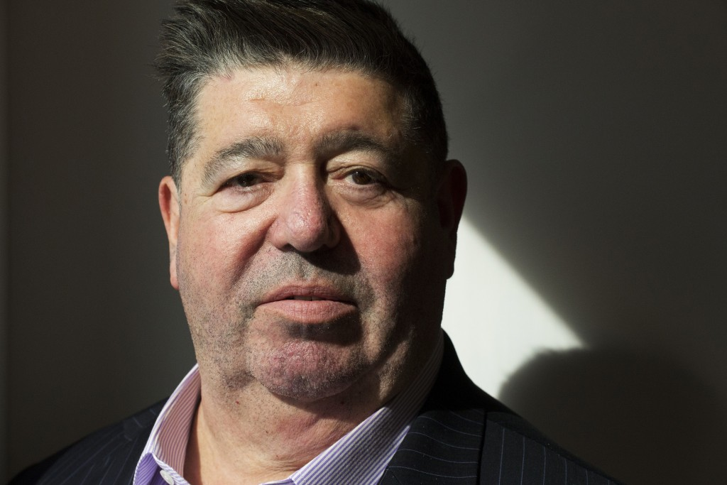 FILE - In this Sept. 24, 2018, file photo, Rob Goldstone poses for photographs, in New York. Goldstone, who brokered a meeting between the Trump campa...