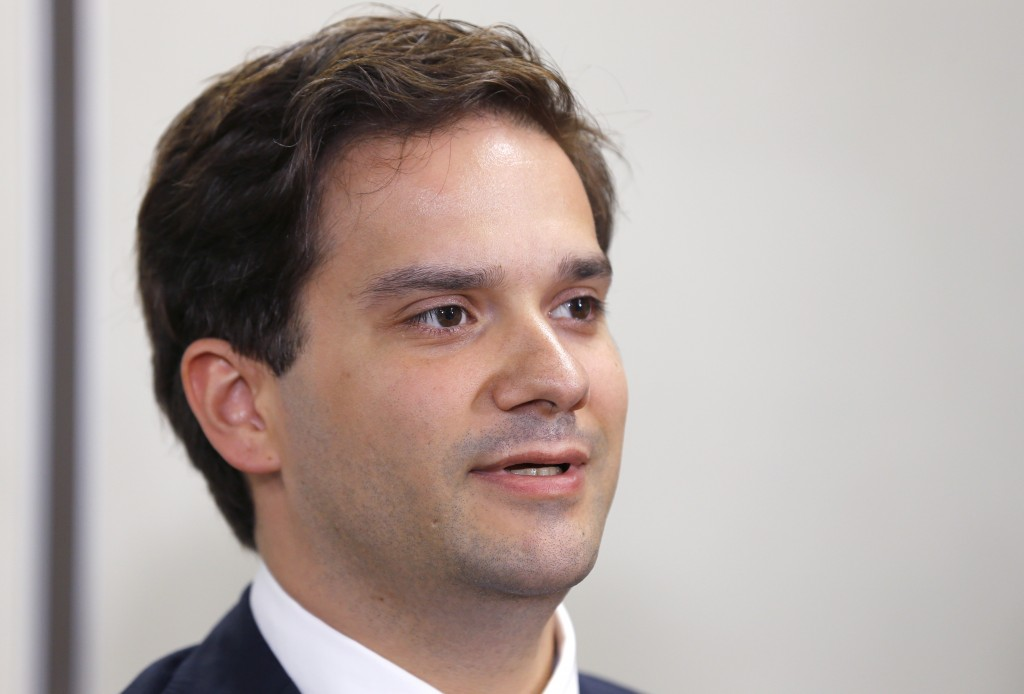 FILE - In this July 11, 2017, file photo, Mt. Gox CEO Mark Karpeles speaks at a press conference at the Justice Ministry in Tokyo. Karpeles is appeali
