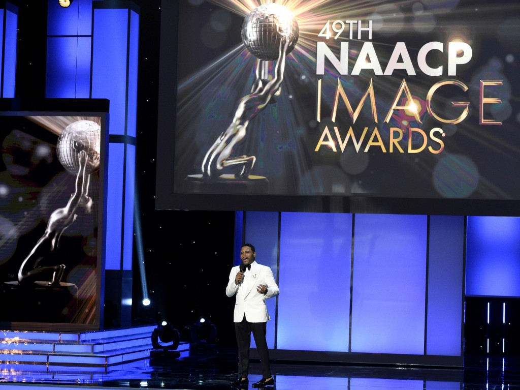 FILE - This Jan. 15, 2018 file photo shows Anthony Anderson hosting the 49th annual NAACP Image Awards in Pasadena, Calif. The 50th NAACP Image Awards