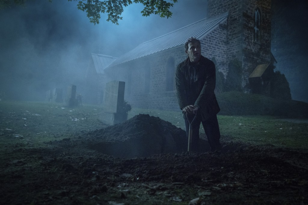 "This image released by Paramount Pictures shows Jason Clarke in a scene from ""Pet Sematary."" (Kerry Hayes/Paramount Pictures via AP)"
