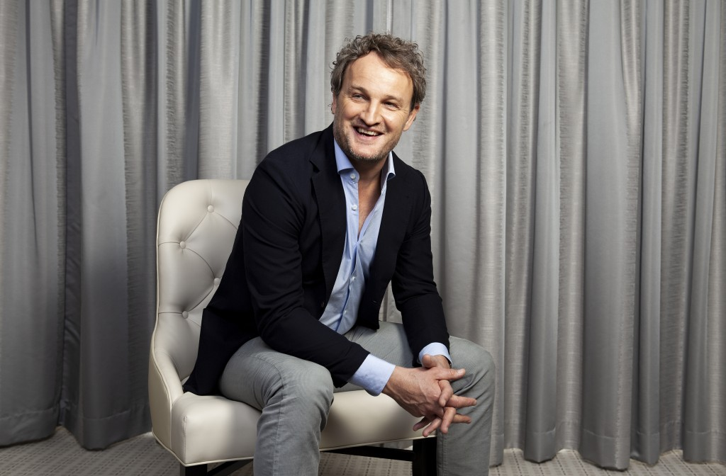 "This March 19, 2019 file photo shows Jason Clarke posing for a portrait to promote his film ""Pet Sematary"" at the Four Seasons Hotel in Los Angeles. ("