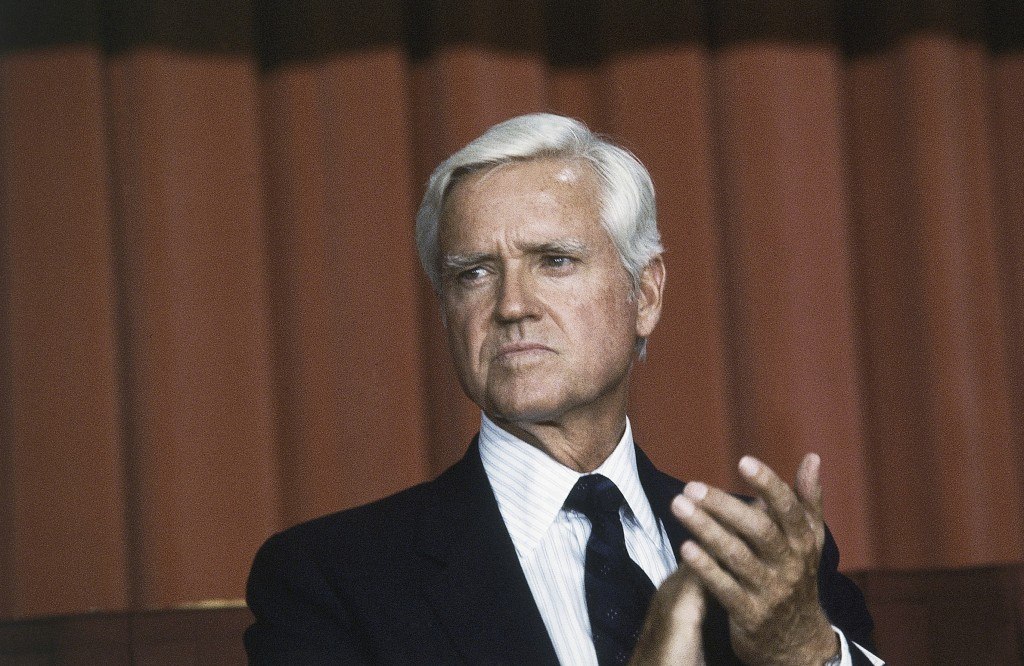 FILE - This July 20, 1983 file photo shows Senator Ernest F. Hollings (D-S.C.) in Washingrton D. C. Hollings, a moderate six-term Democrat who made an