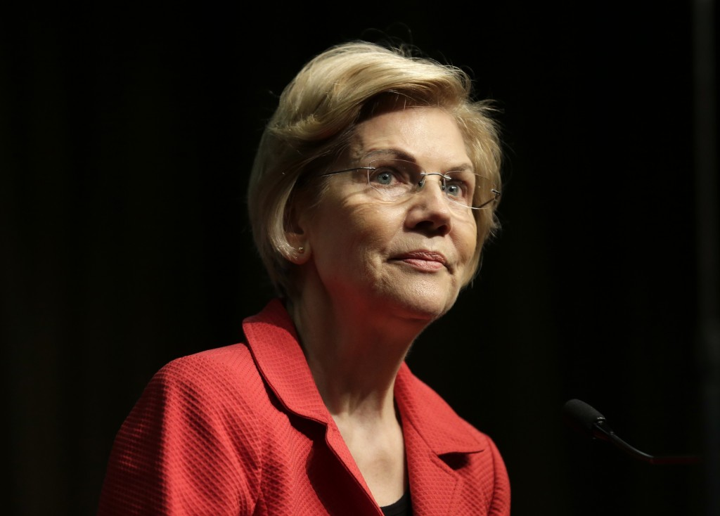 U.S. Sen. Elizabeth Warren, D-Mass., a candidate for the 2020 Democratic presidential nomination, speaks during the National Action Network Convention