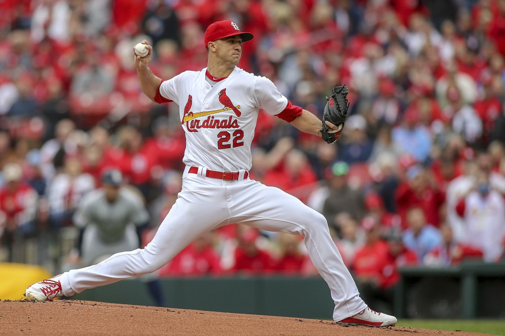 St. Louis Cardinals starting pitcher Jack Flaherty (22) pitches during the first inning of a baseball game against the San Diego Padres, Friday, April