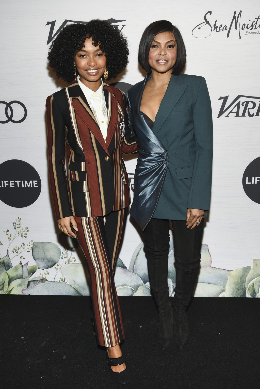 Honoree Taraji P. Henson, right, and actress Yara Shahidi attend Variety's Power of Women: New York presented by Lifetime at Cipriani 42nd Street on F