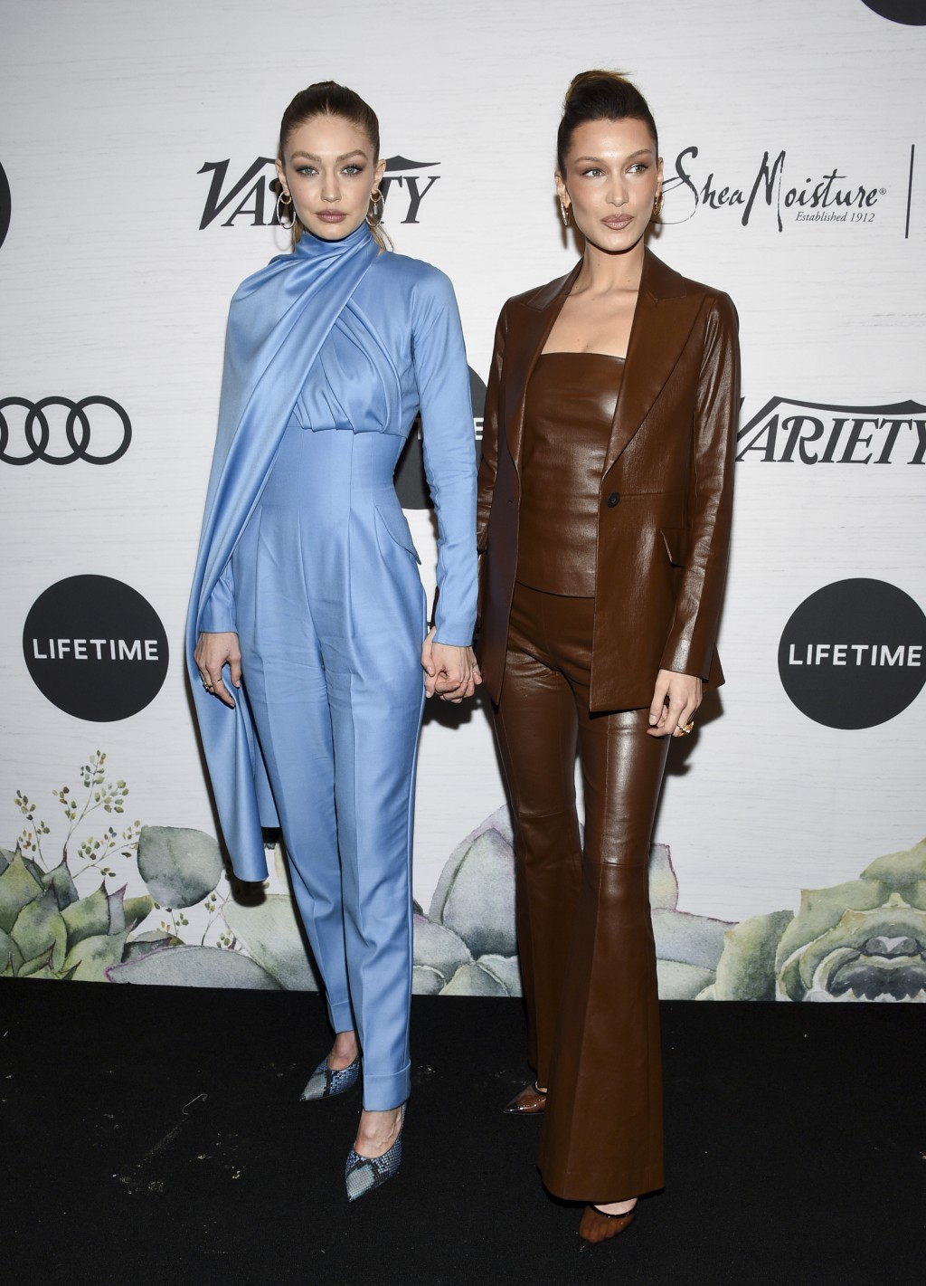 Honoree Gigi Hadid, left, and her sister model Bella Hadid attend Variety's Power of Women: New York presented by Lifetime at Cipriani 42nd Street on