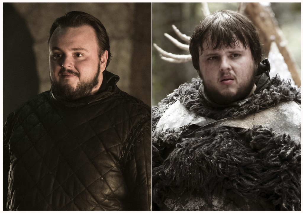 "This combination photo of images released by HBO shows John Bradley portraying Samwell Tarly in ""Game of Thrones."" The final season of the popular ser"