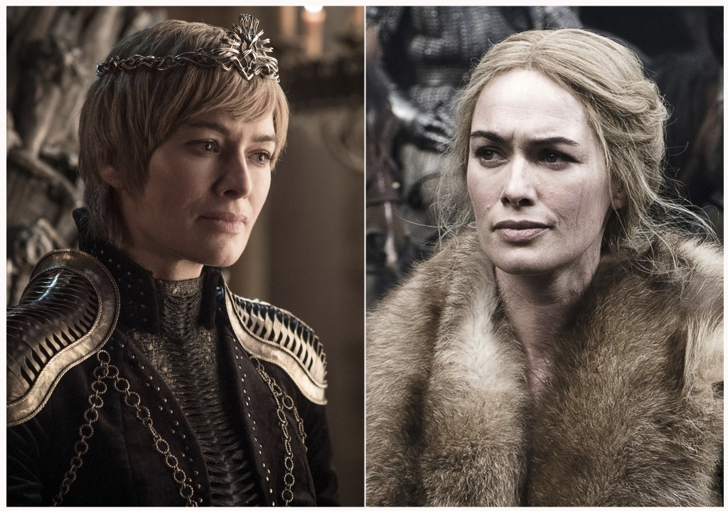 "This combination photo of images released by HBO shows Lena Headey portraying Cersei Lannister in ""Game of Thrones."" The final season of the popular s"