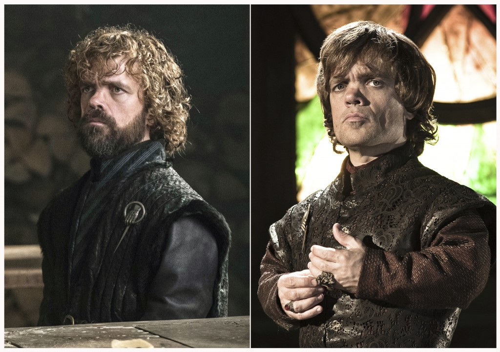 "This combination photo of images released by HBO shows Peter Dinklage portraying Tyrion Lannister in ""Game of Thrones."" The final season of the popula"