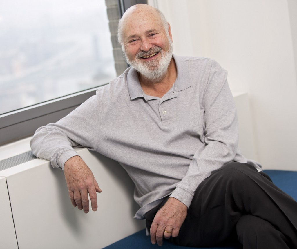 "FILE - In this May 2, 2016 file photo, writer-director Rob Reiner poses for a portrait in New York. Reiner's classic romantic comedy ""When Harry Met S..."