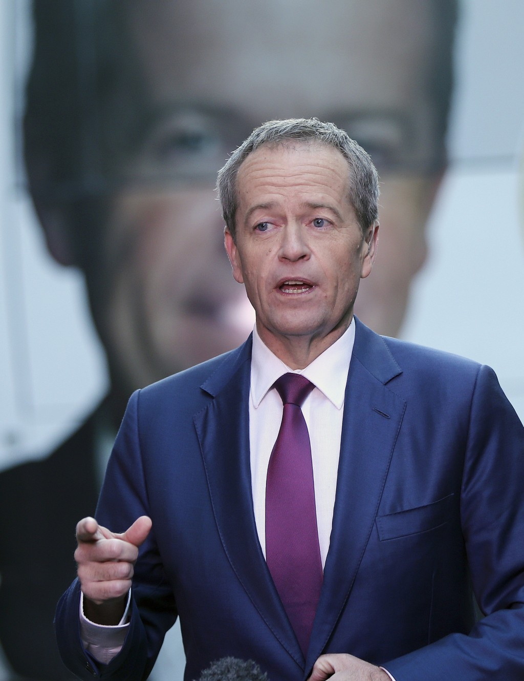 In this July 2, 2016, file photo, Australian Labor Party leader Bill Shorten answers questions during a breakfast show television interview on electio...