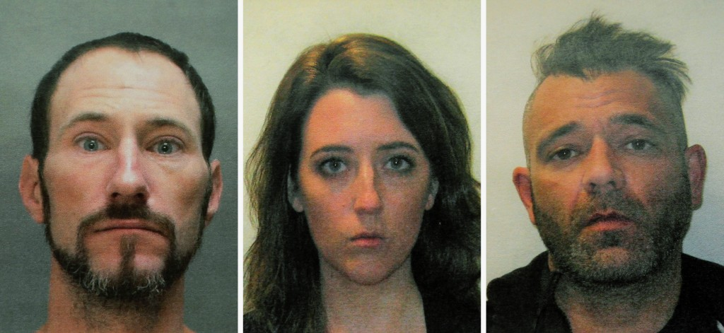 FILE - This November 2018 file combination of photos provided by the Burlington County Prosecutors office shows Johnny Bobbitt, left, Katelyn McClure