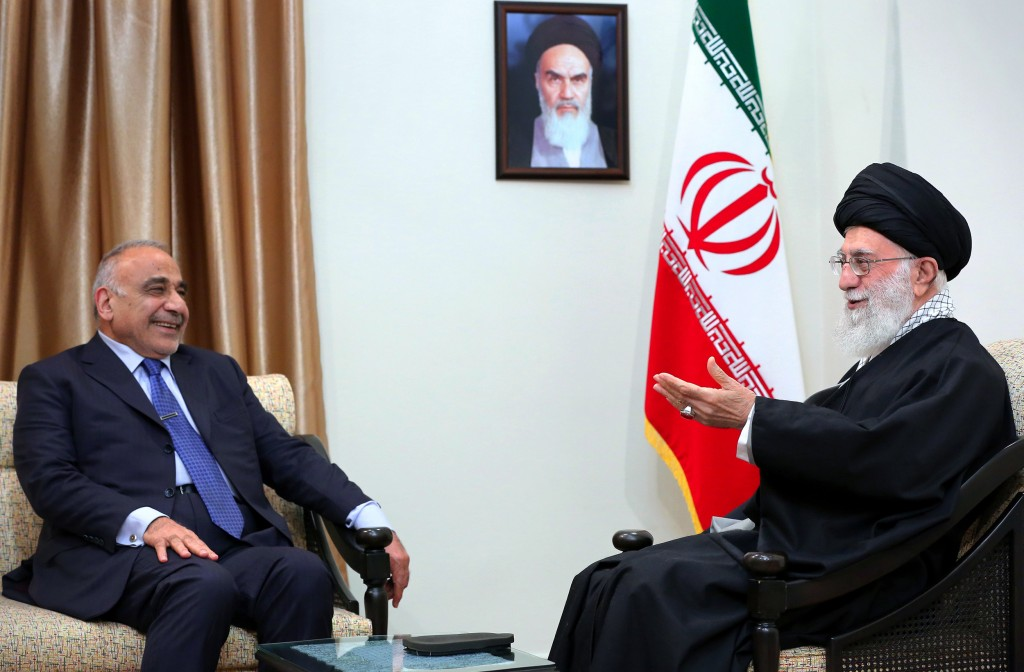 FILE - In this Saturday, April, 6, 2019 file photo, released by an official website of the office of the Iranian supreme leader, Supreme Leader Ayatol...