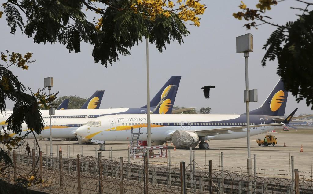 Jet Airways aircrafts are seen parked at Chhatrapati Shivaji Maharaj International Airport in Mumbai, Monday, April 15, 2019. India's ailing Jet Airwa