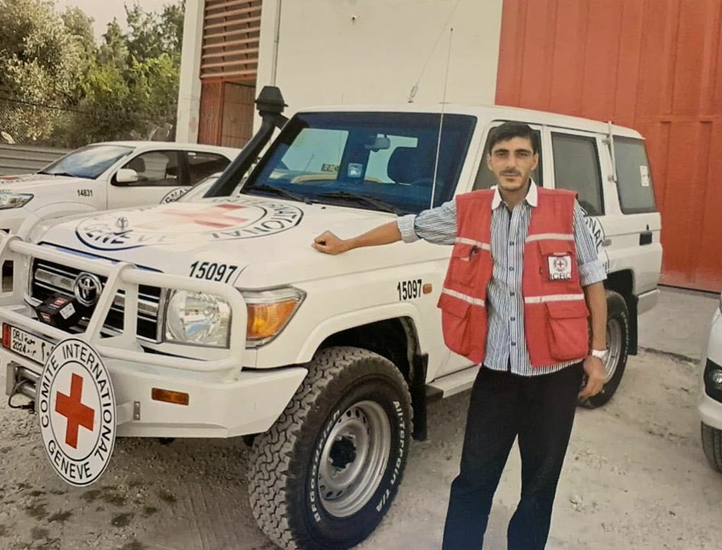 This undated photo provided on Monday, April 15, 2019, by International Committee of the Red Cross shows Syrian driver Nabil Bakdounes. New Zealand's