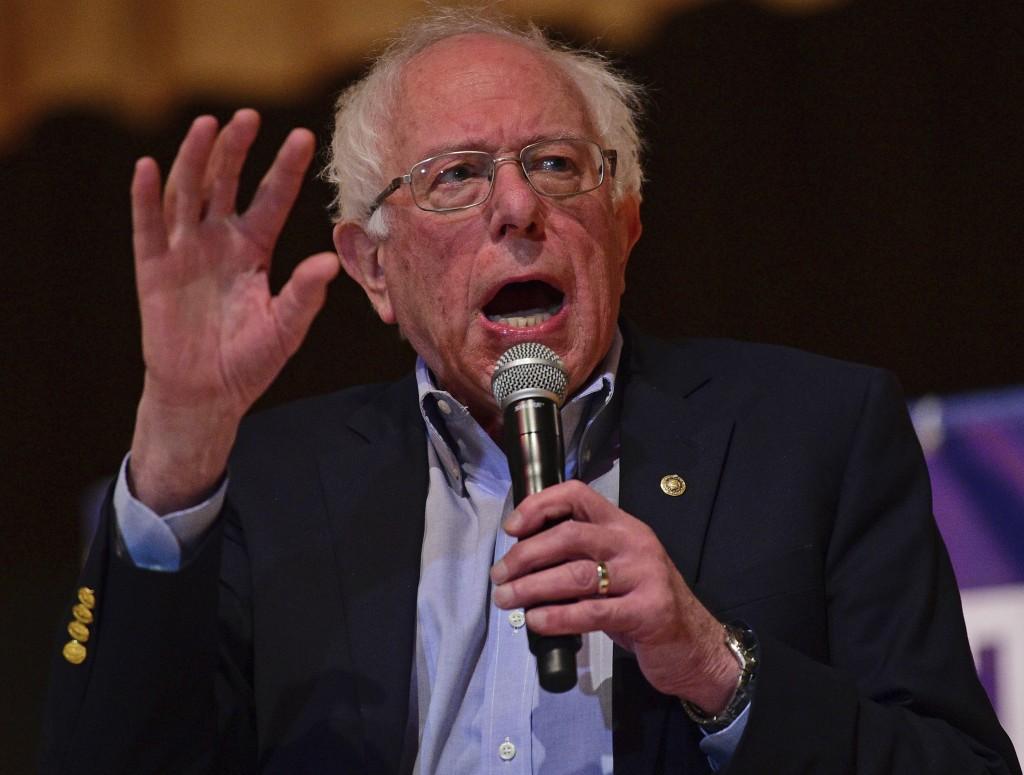 Sen. Bernie Sanders, I-Vt., speaks at an Ohio workers town hall meeting, Sunday, April 14, 2019, in Warren, Ohio. (AP Photo/David Dermer)