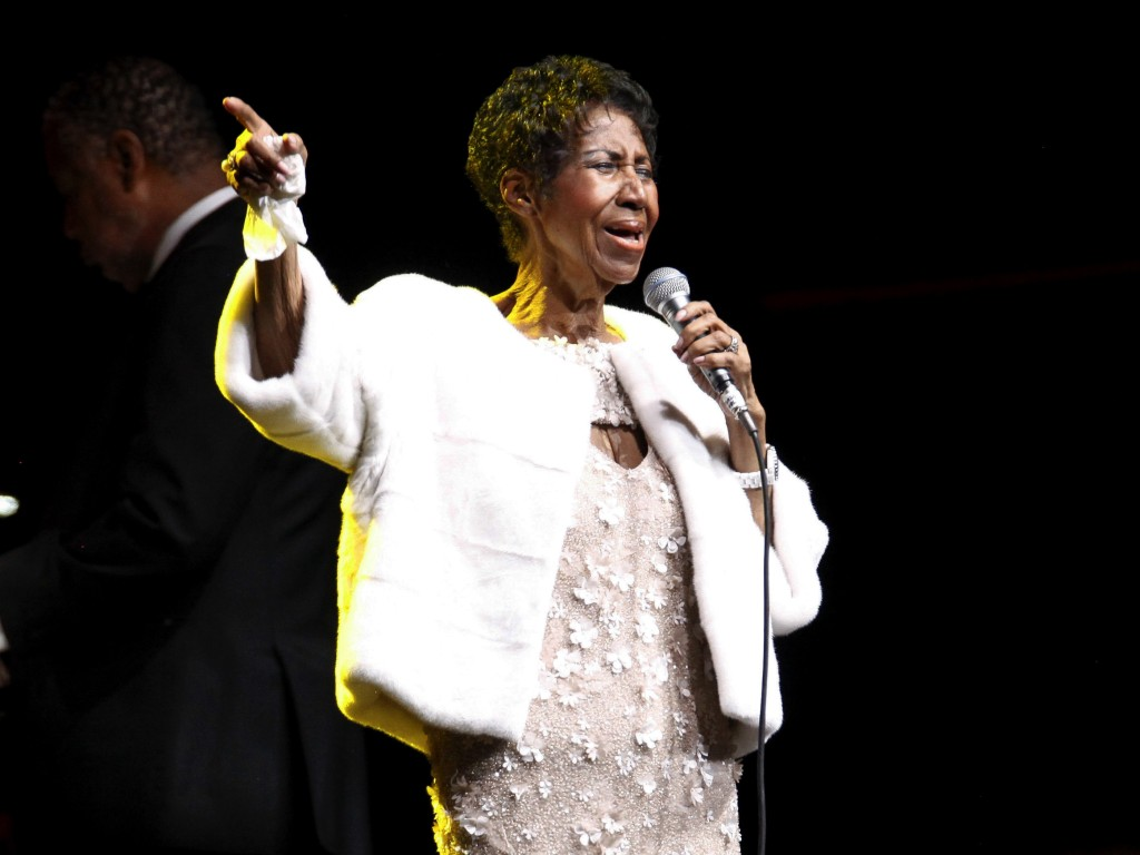 FILE - In this Nov. 7, 2017 file photo, Aretha Franklin attends the Elton John AIDS Foundation's 25th Anniversary Gala in New York. Franklin is still