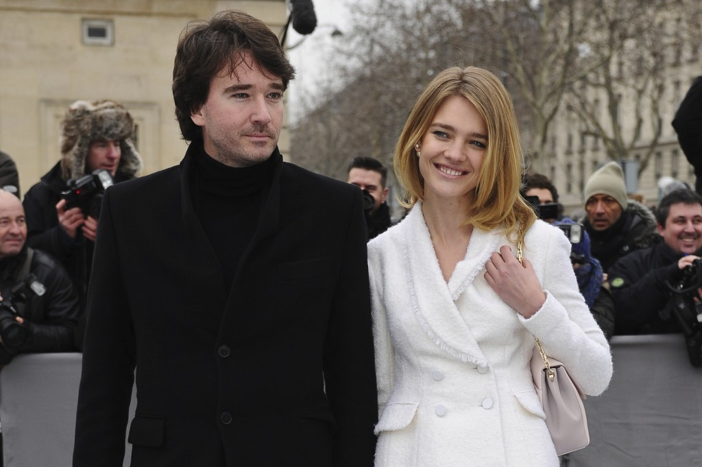 FILE - In this Friday, March 1, 2013 file photo Antoine Arnault and Natalia Vodianova arrive for Dior's Ready to Wear's Fall-Winter 2013-2014 fashion ...