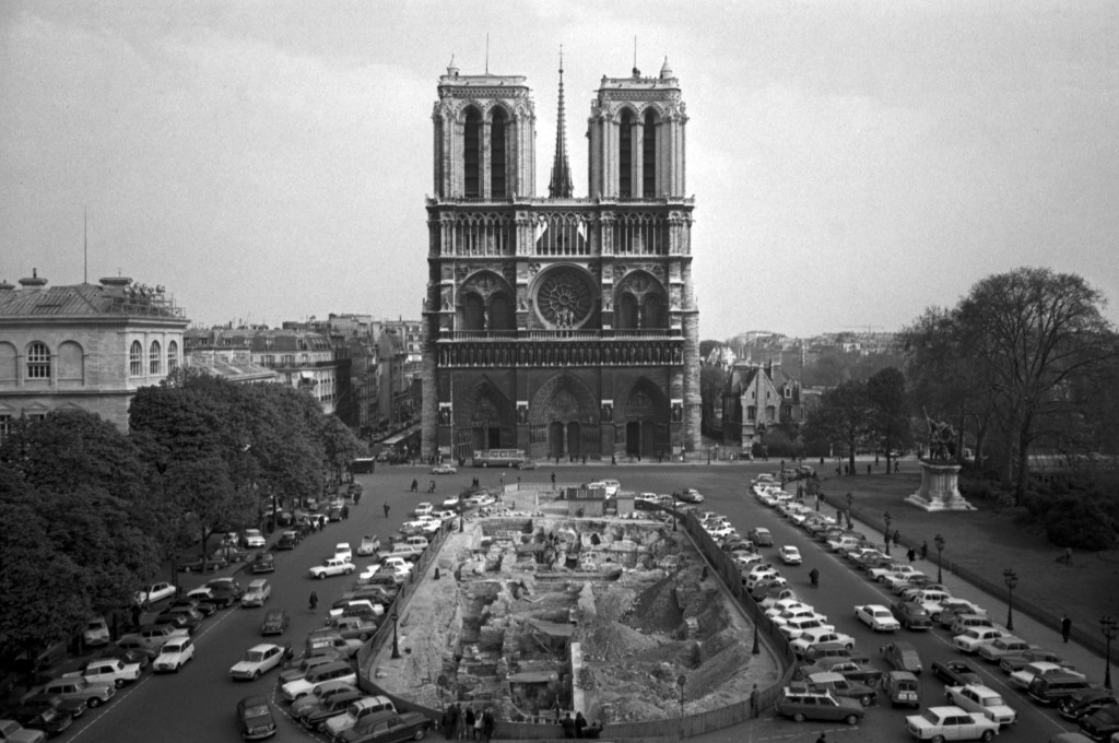 FILE - This April 18, 1967, file photo, shows the Notre Dame Cathedral in Paris. Art experts around the world reacted with horror to news of the fire