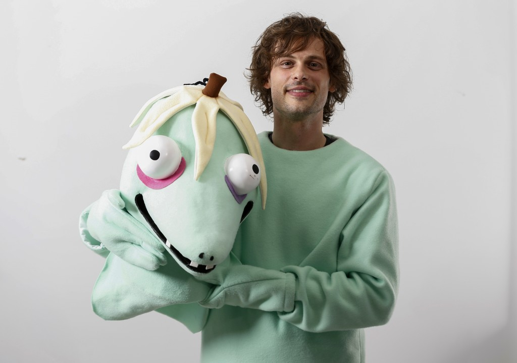 This April 1, 2019 photo shows actor and author Matthew Gray Gubler poses for a portrait in New York wearing a costume of his title character in his c