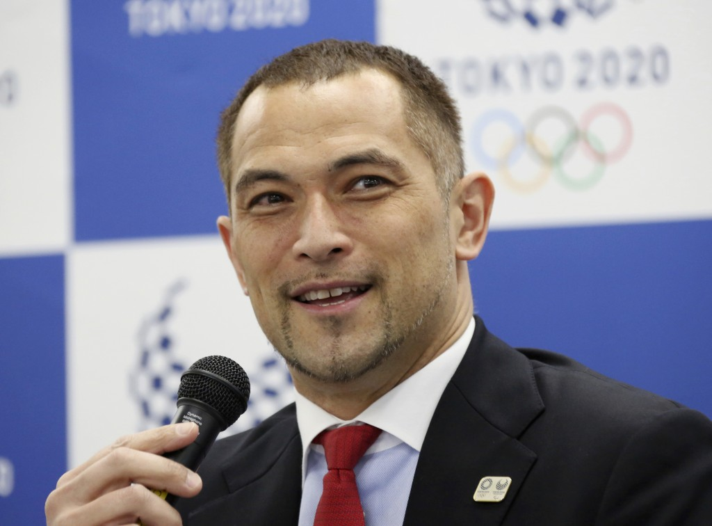 Tokyo 2020 Sports Director Koji Murofushi speaks during a press conference to unveil detailed Olympic competition schedule in Tokyo, Tuesday, April 16